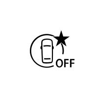 (Kjøretøyavhengig) Indikator som angir at den aktive nødbremsen ikke fungerer eller ikke er tilgjengelig